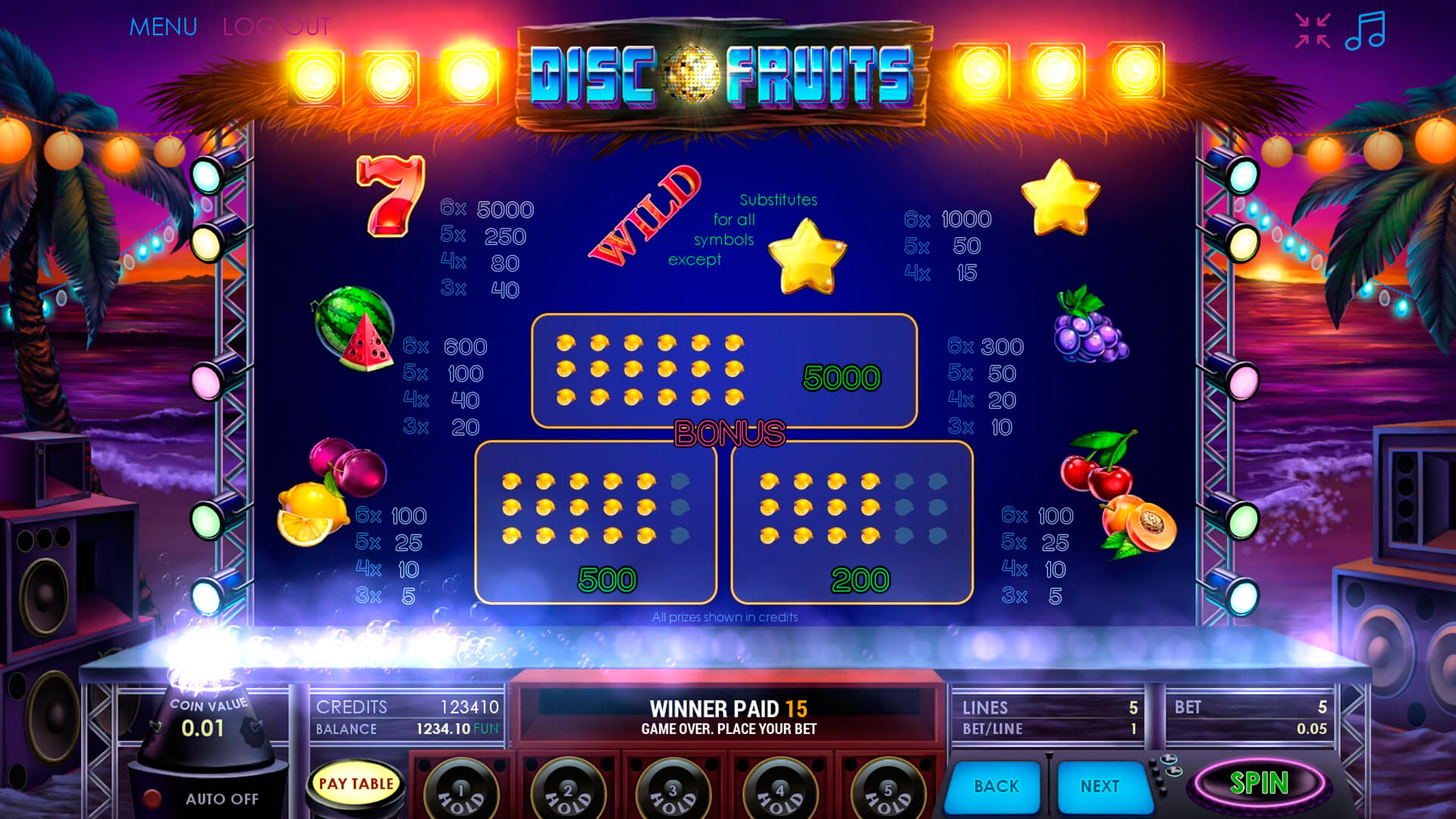 Disco Fruits screenshot 2