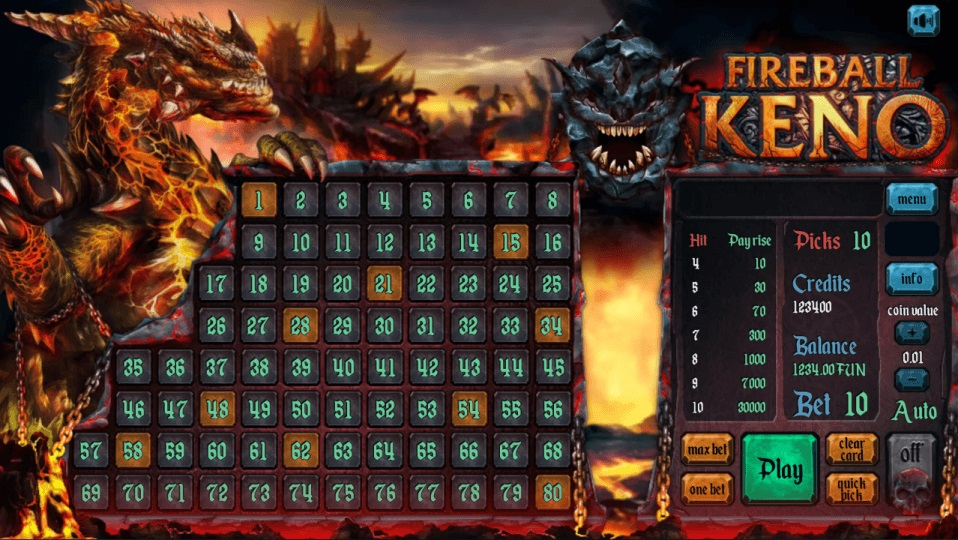 Fireball Keno screenshot 2